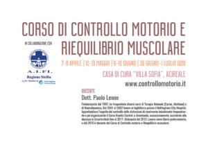 CORSO DI CONTROLLO MOTORIO E RIEQUILIBRIO MUSCOLARE