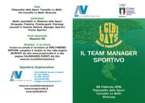 GIBI DAYS - IL TEAM MANAGER SPORTIVO