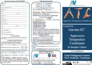 CORSO BASE ATC® APPROCCIO TERAPEUTICO COMBINATO DI GIUSEPPE CULTRERA