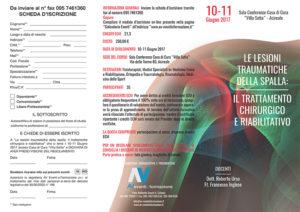 LE LESIONI TRAUMATICHE DELLA SPALLA - IL TRATTAMENTO CHIRURGICO E RIABILITATIVO
