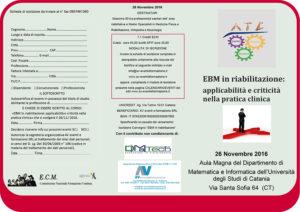 EBM IN RIABILITAZIONE: APPLICABILITA' E CRITICITA' NELLA PRATICA CLINICA