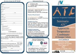 SEMINARIO ATC® APPROCCIO TERAPEUTICO COMBINATO DI GIUSEPPE CULTRERA