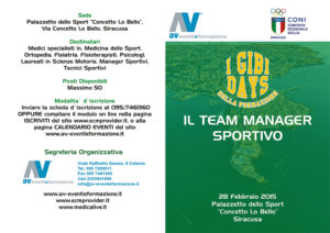 GIBI DAYS - IL TEAM MANAGER SPORTIVO