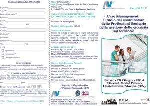 CASE MANAGEMENT: IL RUOLO DEL COORDINATORE DELLE PROFESSIONI SANITARIE NELLA GESTIONE DELLE CRONOCITA' SUL TERRITORIO