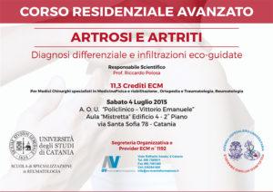 """CORSO RESIDENZIALE AVANZATO """"ARTROSI E ARTRITI"""""""