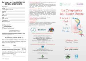 LA COMPLESSITA' DELL'ESSERE DONNA - BREAST UNIT IN REAL TIME