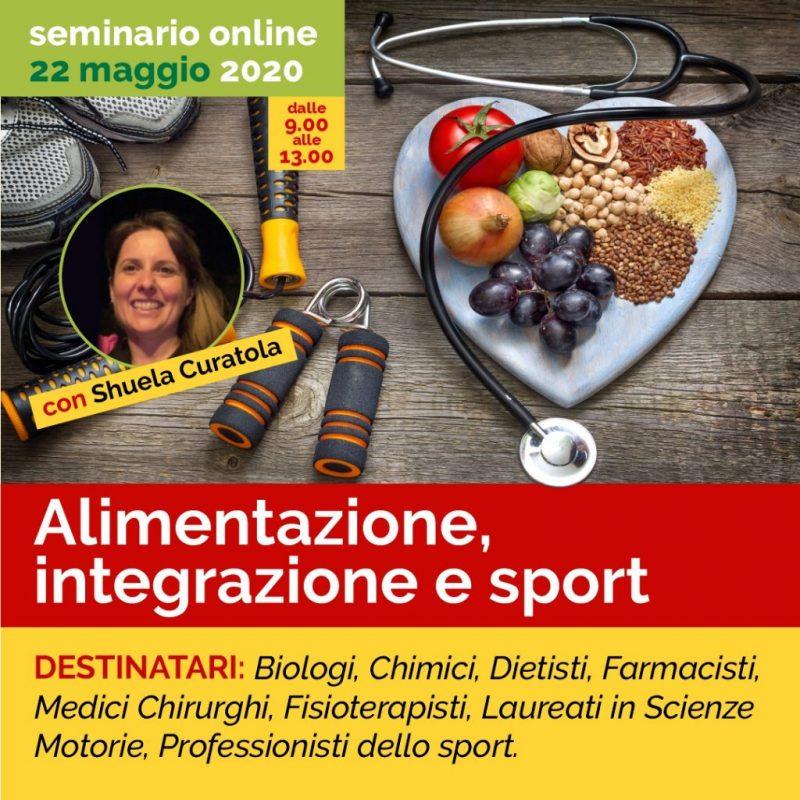 SEMINARIO ONLINE - ALIMENTAZIONE, INTEGRAZIONE E SPORT