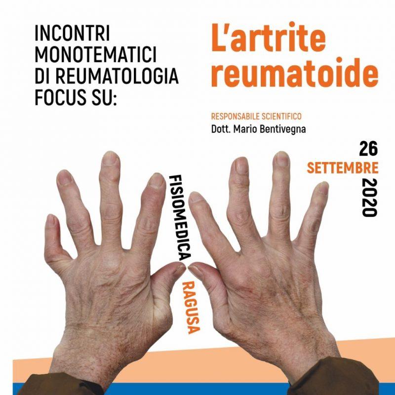 INCONTRI MONOTEMATICI DI REUMATOLOGIA. <br>FOCUS SU L'ARTRITE REUMATOIDE
