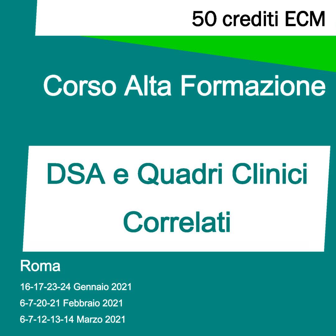 corso di alta formazione - DSA e Quadri Clinici correlati