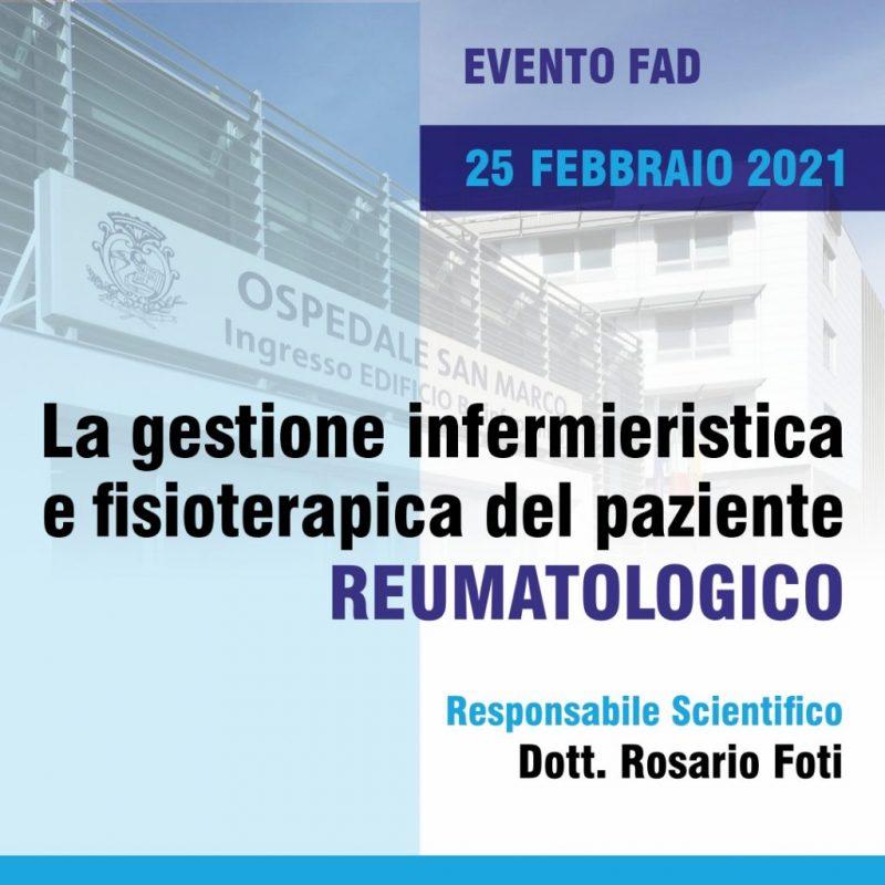 LA GESTIONE INFERMIERISTICA E FISIOTERAPICA DEL PAZIENTE REUMATOLOGICO