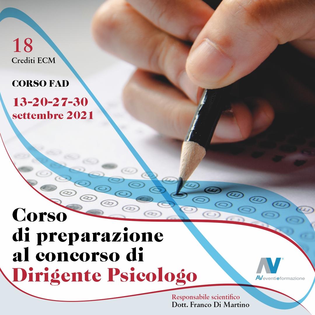 CORSO DI PREPARAZIONE AL CONCORSO DI DIRIGENTE PSICOLOGO